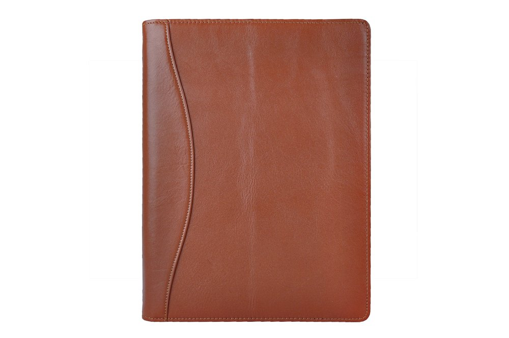 iCarryAlls Leather Organizer Padfolio with 3-Ring Binder, Fits Letter-Size / A4 Notepad,Brown by XIAOZHI