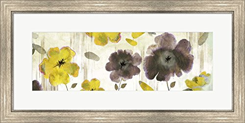 Great Art Now Bouquet Florals II by Posters International Studio Framed Art Print Wall Picture, Silver Scoop Frame, 32 x 16 inches