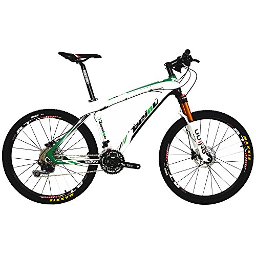BEIOU Carbon Fiber Mountain Bike Hardtail MTB Shimano M6000 DEORE 30 Speed Ultralight 10.8 kg RT 26 Professional External Cable Routing Toray T800 CB005