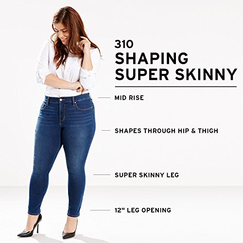 f9f227b00d5ff Levi's Women's Plus Size 310 Shaping Super Skinny Jeans at Amazon Women's  Jeans store