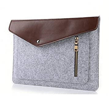 jlyifan gris aguja fieltro Busniess Carrying Sleeve Bolsa ...