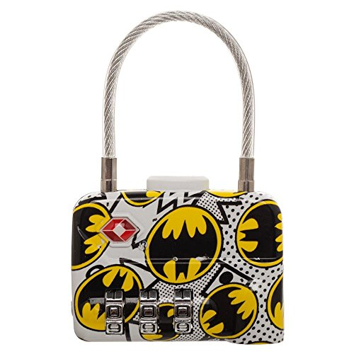 DC Comics Batman Logo TSA Approved Travel Combination Cable Luggage Lock for Suitcase Baggage ()