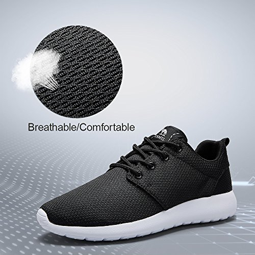 Tennis Men's Running Breathable Walking Comfortable Shoes Athletic Lightweight Shoes Black Camel Sneakers RwdHXxtqRY