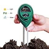 Dulcii Soil PH Meter Plant Care Meter, 3-in-1 Soil Moisture Meter with Light, PH & Acidity Meter Plant Soil Tester Kits for Gardening Farming(2 Pack)