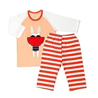 "OllCHAENGi Infant Toddler Kids Boys Girls Cotton Pajama Sleepwear Set 3/4 Sleeve 18M-12Y ""Watermelon Orange"" (130) (B071JBFK6T)   Amazon price tracker / tracking, Amazon price history charts, Amazon price watches, Amazon price drop alerts"