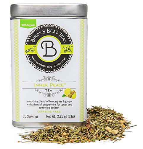 - Pregnancy Nausea Relief & Morning Sickness Relief - Inner Peace by Birds & Bees Teas - Pregnancy Tea Organic Loose Leaf blend that Soothes and Calms Upset Stomachs and Unsettled Bellies!(30 servings)