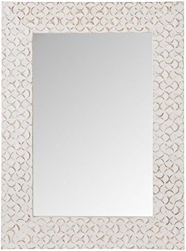 Elk Lighting wall mirror, Mango Wood, Weathered White