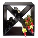Vinotemp VT-DIAMONDBIN Wood Wine Rack Cube, 24-Bottle
