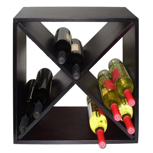 Vinotemp VT-DIAMONDBIN Wood Wine Rack Cube, ()