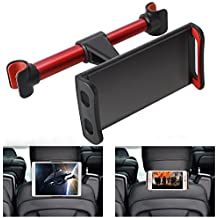 360° Rotation Car Headrest Mount, Phone Tablet Car Headrest Grip Mount Stand Cradle Bracket Holder for iPad/ Samsung Galaxy Tabs/ Amazon Kindle Fire 4 ~11 inch Smartphones and Tablets