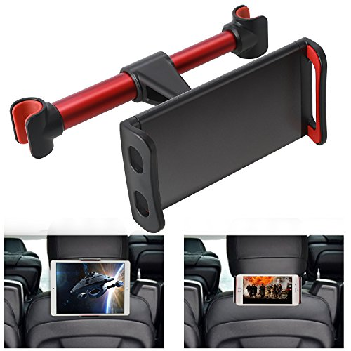 360° Rotation Car Headrest Mount, Phone Tablet Car Headrest Grip Mount Stand Cradle Bracket Holder for iPad/ Samsung Galaxy Tabs/ Amazon Kindle Fire 4 ~11 inch Smartphones and Tablets (Kindle Wireless Reading Device)