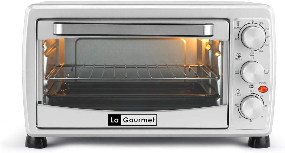 La Gourmet Toaster Oven - 18L Toast Bake Broil Grill with accessories