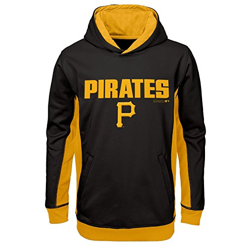 MLB Pittsburgh Pirates Youth Boys 8-20 Geo Strike Hood-L (14-16), Black