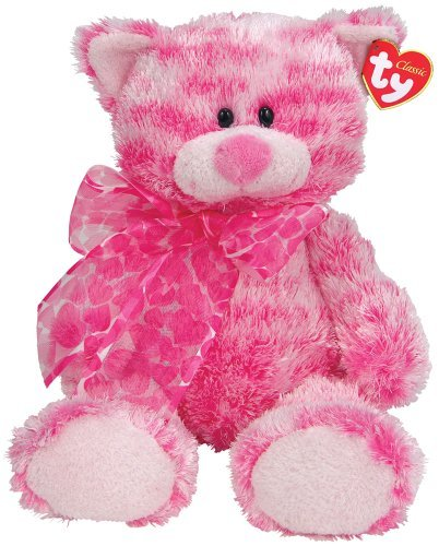 Ty Meows  Pink Multi Ty Silk Cat by Ty