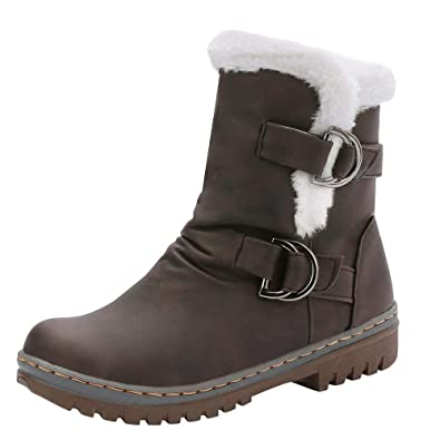2e35aaced713d6 Felicove Damen Warme Winterstiefel