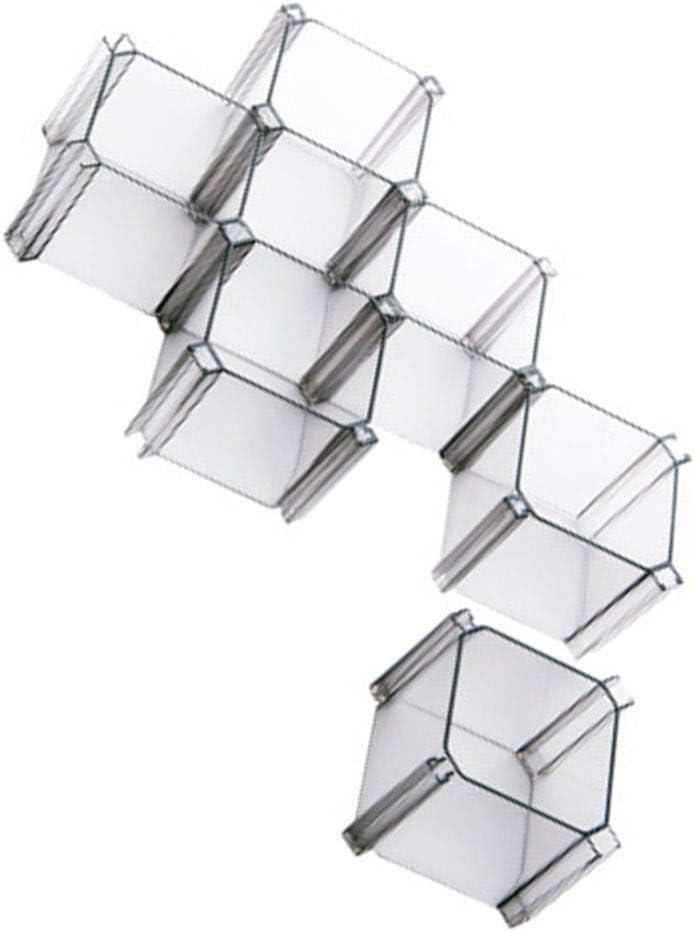 VONKY 6pcs / Set de Bricolaje de plástico Red de Nido de Abeja cajón Separador Separador partición del gabinete del Organizador del almacenaje de la Ropa Interior Calcetines