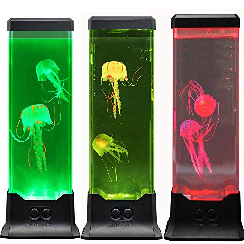 MAGICLITE Electric Fantasy Jellyfish Lava Lamp with Color Changing Light Effects-Jelly Fish Tank Aquarium Night Mood Light for Decoration for Kids Men Women (Jelly Fishes)