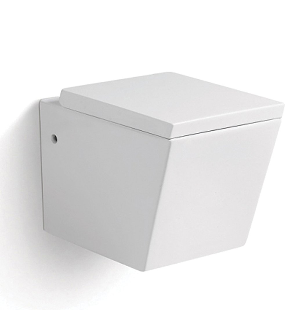 Design wc wand hänge wc hängendes wc eckig inkl nano beschichtung soft close deckel b2389 amazon de baumarkt
