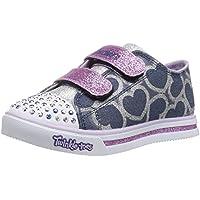 Skechers Kids Twinkle Toes Shuffles Sweet Steps Light-Up Sneaker