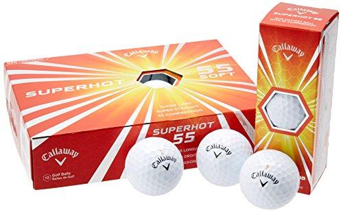 Callaway Superhot 55 Golf Balls, Prior Generation, One Dozen