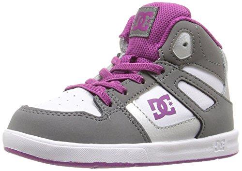 DC Jugend Rebound Skate Schuhe Grau / Lila