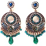 Mac Lawrence Blue Metal Bohemian Fancy Earrings for Women