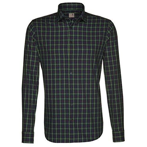 Seidensticker Herren Hemd Schwarze Rose Slim Fit grün / mehrfarbig kariert Gr. 38 - 46 / 229515.77