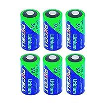 3V cr123a Lithium Batteries 1500mah capacity count:6Pcs