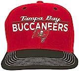 NFL Youth Boys Retro Bar Script Flatbrim Snapback Hat-Red-1 Size, Tampa Bay Buccaneers