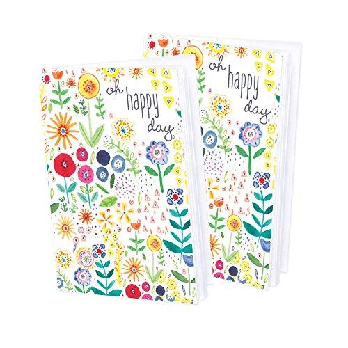 Set of 2- Mini Journal blank notebook - Little Flowers - Flowers Mini Journals