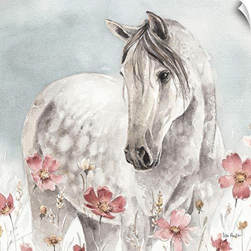 CANVAS ON DEMAND Wild Horses IV Wall Peel Art Print, 20