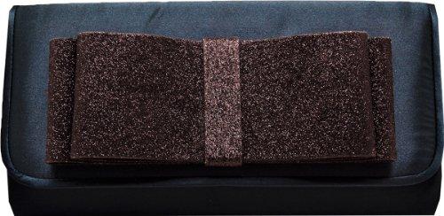 Style & Co. Evening Bag Purse Clutch Convertible Satin Dark Teal
