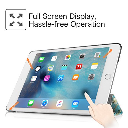 Fintie iPad mini 4 Case - Ultra Slim Lightweight Stand Smart Cover with Auto Sleep/Wake Feature for Apple iPad mini 4 (2015 Release), Blossom Photo #4