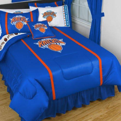 NBA New York Knicks King Colcha Set Baloncesto Logo cama: Amazon ...