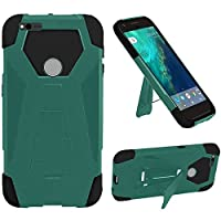 HR Wireless Cell Phone Case for Google Pixel XL - Teal/Black