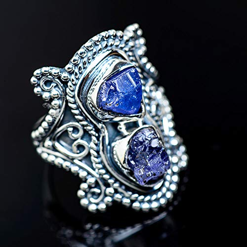 (Ana Silver Co Rough Tanzanite Ring Size 6 (925 Sterling Silver) - Handmade Jewelry, Bohemian, Vintage)