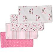 Gerber Baby Girls 4 Pack Flannel Burp Cloth, Princess, One Size