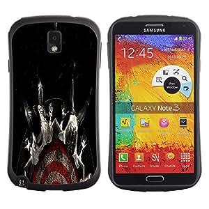 Be-Star Impreso Colorido Diseño Antichoque Caso Del iFace Primera Clase Tpu Carcasa Funda Case Cubierta Par SAMSUNG Galaxy Note 3 III / N9000 / N9005 ( Cool Target Fear Black Dark )