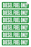 6 pack DIESEL FUEL ONLY Decals / Stickers / Labels / Markers