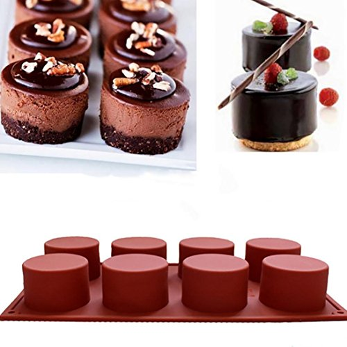 - Binmer(TM) M Cake Soap Mold Round Flexible Silicone Cookie Candy Chocolate Mould, M
