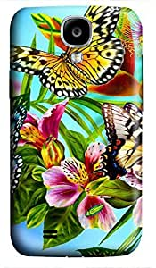 discount Samsung S4 case Beautiful Butterfly 3D cover custom Samsung S4