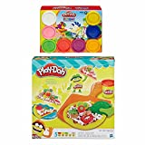 Play-Doh Pizza Party + Play-Doh Rainbow Starter Pack Bundle
