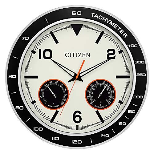 Citizen CC2019 Outdoor Wall Clock, Black (Citizen Wall Clock)