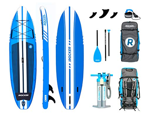 (iROCKER All-Around Inflatable Stand Up Paddle Board 11' Long 32