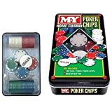 100 Dual Toned Pocker Chips Dealer Button Home Casino Gambling Games Cards Play by PinkWebShop