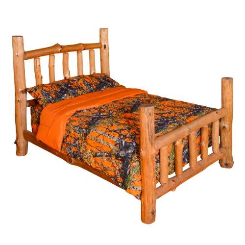 THE WOODS Premium Microfiber CAMO Comforter (Orange Full)
