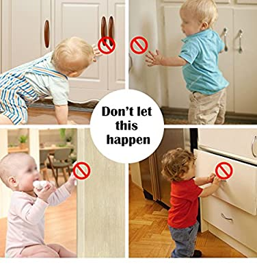 TOOLIC Magnetic Child Safety Locks Kits for Cabinet Drawer Cupboard Door Baby Proof Invisible No Drilling Design