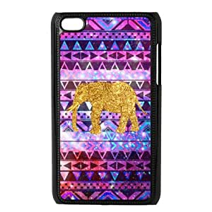 QSWHXN Phone Case Elephant Aztec Tribal,Customized Case For Ipod Touch 4