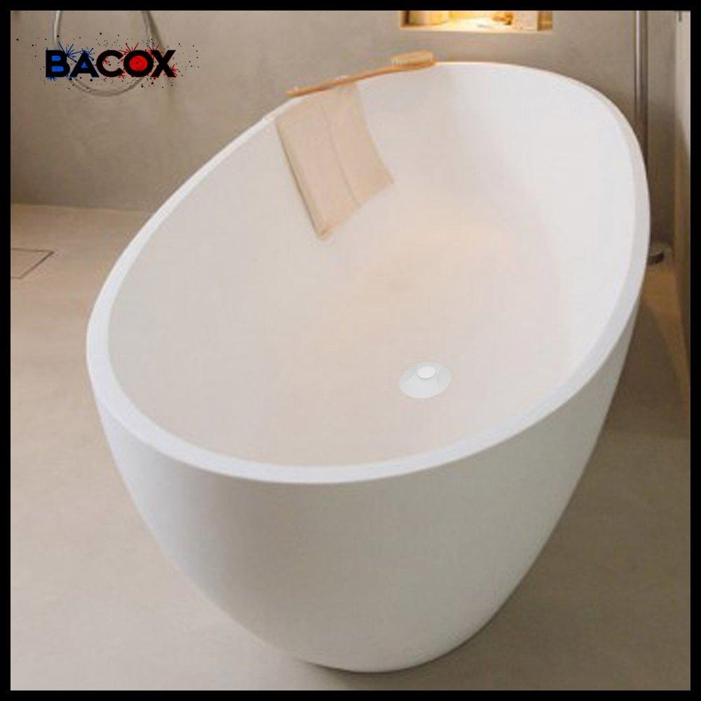Bouchon de baignoire Bacox/®️ Bonde lavabo bonde baignoire Blanc bouchon evier. bonde evier bouchon de lavabo