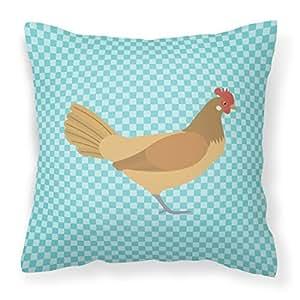 Caroline tesoros del bb8006pw1818frisón Friesian pollo azul comprobar al aire libre lienzo Tejido decorativo almohada, multicolor